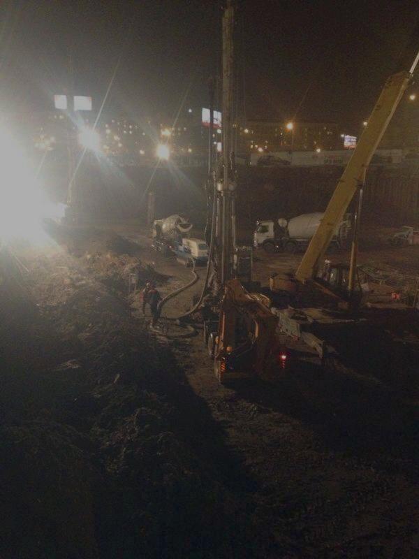 На фотографии представлены работы по усилению фундамента от компании АТМ-Аква